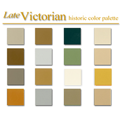 Historic color palettes for interior design