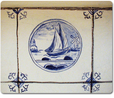 blue and white delft tiles