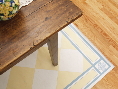 painted floor cloth tutorials