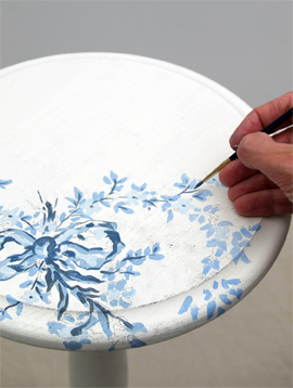 hand painted floral designs