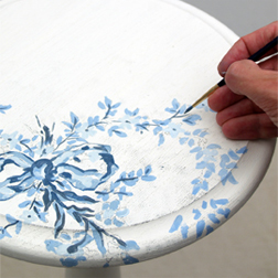 Hand painted floral and flower designs