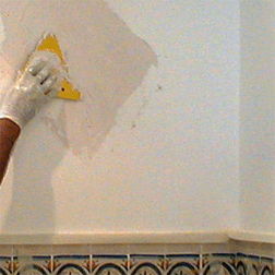 basic plaster wall treatment