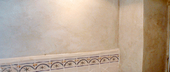 plaster wall fresco finish