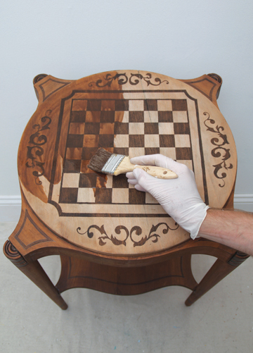 how to make a painted game table