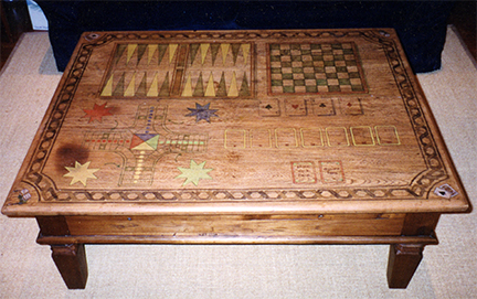 painted inlay game table