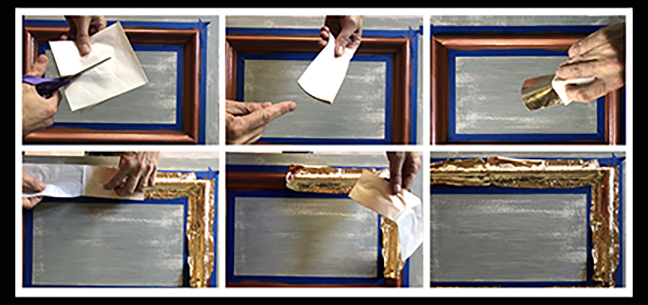 How to antique gold leaf