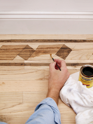 Painted inlay floor tutorial