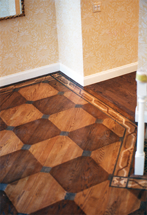 painted inlay floor