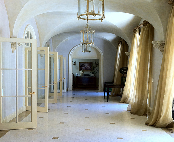 beautiful interior with plaster walls