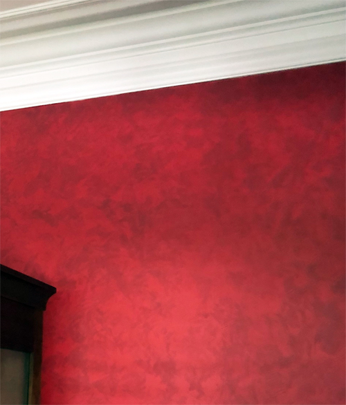 rag rolling paint effect for walls and furniture