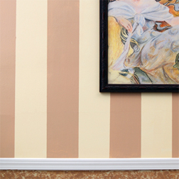 Painted stripes on walls