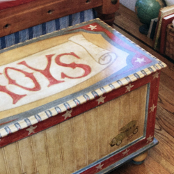 hand Painted Vintage Toy Chest