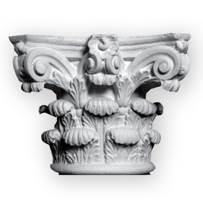plaster cast column capital