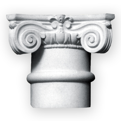Historic plaster column capital