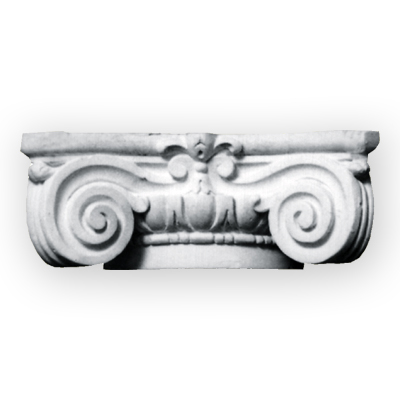 Custom plaster column capital