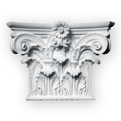 Architectural plaster column capital