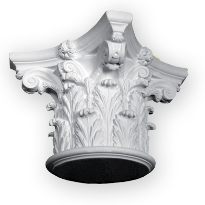 Ornamental plaster column capital