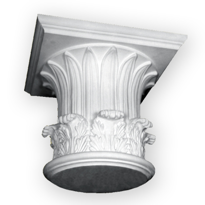 Period and historic plaster column capital