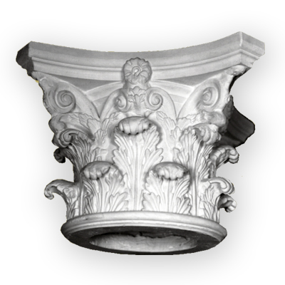 Ornamental cast plaster capital