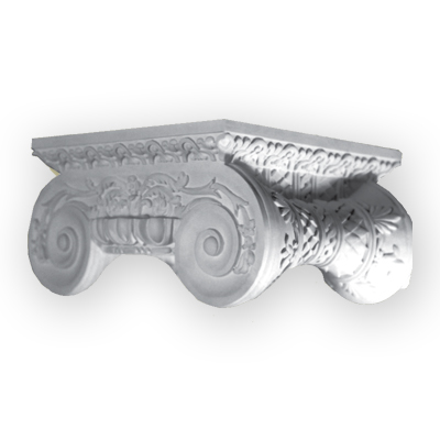 Ornamental pilaster column capital