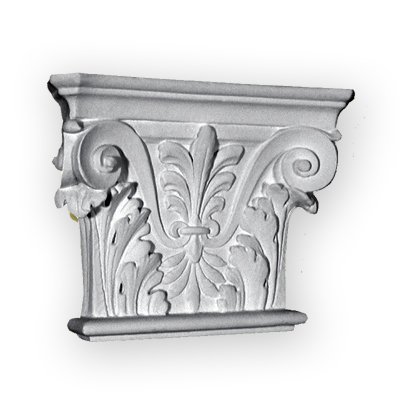 Ornamental plaster capital