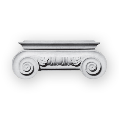 fancy plaster column capital