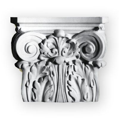 Real plaster column capital