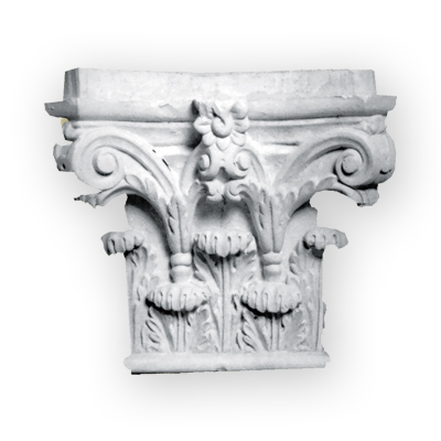hand made plaster column capital