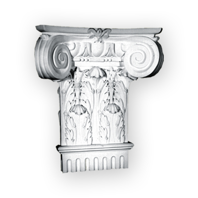 plaster column capital top