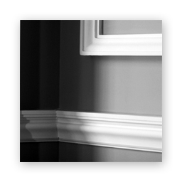 Plaster panel molding and chair rails