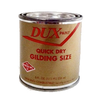 Adhesive glue and size for artists and gilders