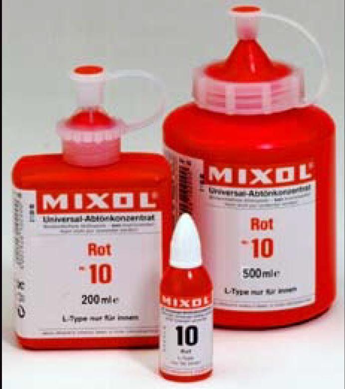 mixol tinters for paint and concrete