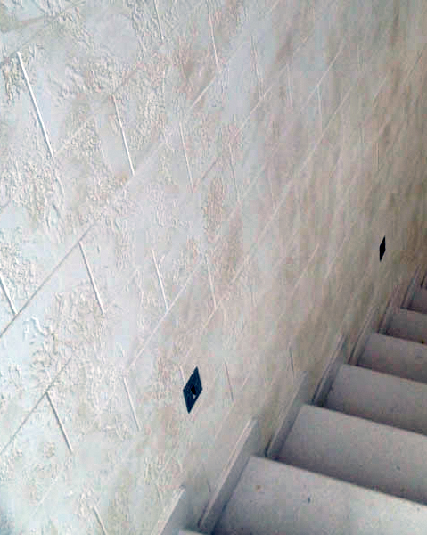 Travertine decorative plaster finishes
