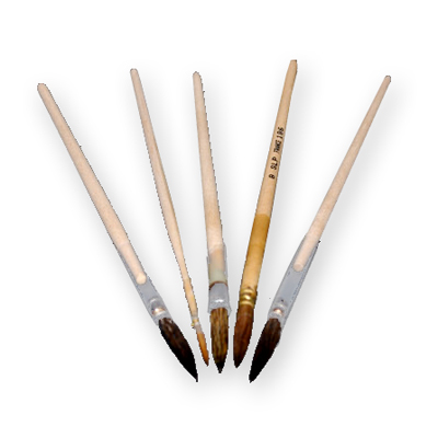 High quality artists brushes